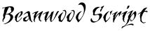 Beanwood Script font