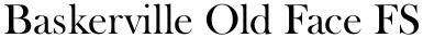 Baskerville Old Face FS font
