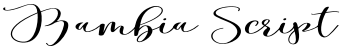 Bambia Script font