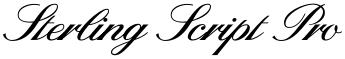 Sterling Script Pro font
