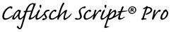 Caflisch Script® Pro font