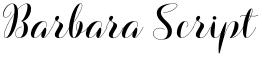 Barbara Script font