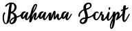 Bahama Script font