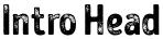 Intro Head font