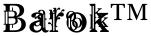 Barok™ font
