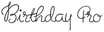 Birthday Pro font