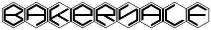 BakerHalf font