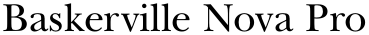 Baskerville Nova Pro font