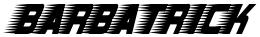 Barbatrick font