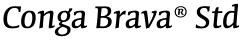 Conga Brava® Std font