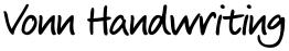 Vonn Handwriting font