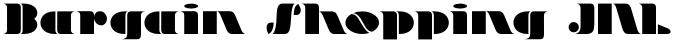 Bargain Shopping JNL font