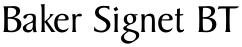 Baker Signet BT font