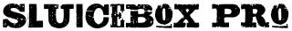 Sluicebox Pro font