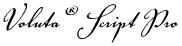 Voluta® Script Pro font