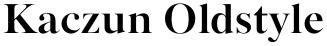 Kaczun Oldstyle font