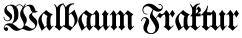 Walbaum Fraktur font