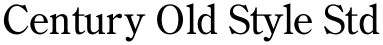 Century Old Style Std font