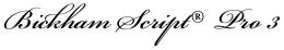 Bickham Script® Pro 3 font