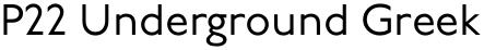 P22 Underground Greek font