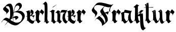 Berliner Fraktur font