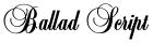 Ballad Script font