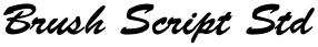 Brush Script Std font