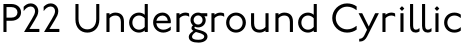 P22 Underground Cyrillic font