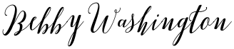 Bebby Washington font