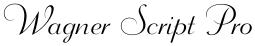 Wagner Script Pro font