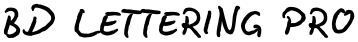 BD Lettering Pro font