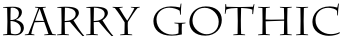 Barry Gothic font