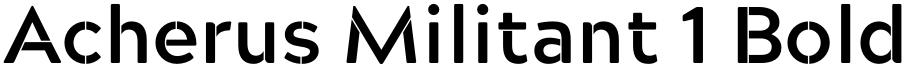 Acherus Militant 1 Bold
