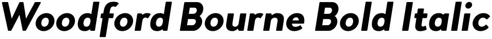 Woodford Bourne Bold Italic