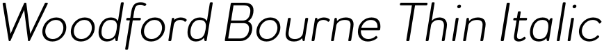 Woodford Bourne Thin Italic