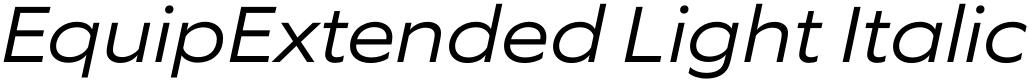 EquipExtended Light Italic