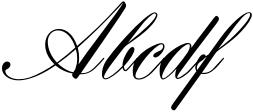 Henrietta Script Regular Sample